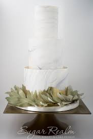 soft gray marble gold brushing and wafer paper wreath wedding