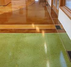 Basement Floor Stain by 13 Best Blue U0026 Green Stained Concrete Floors Images On Pinterest