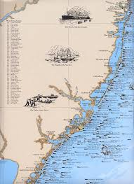 New Jersey snorkeling images New jersey shipwreck chart great nautical art print map nautical jpg