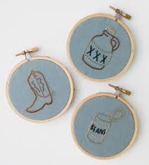 embroidered christmas cowboy embroidered christmas ornaments set of 3 features happy