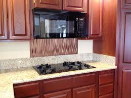Kitchen Cabinet Backsplash Interior Brown Wooden Kitchen Cabinet With Oven And Stove Plus