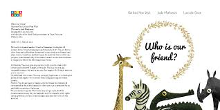 who is our friend by gerhard van wyk jade mathieson and lara de