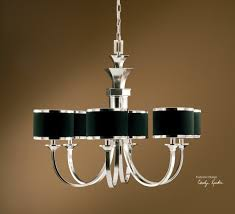 Silver Chandelier by Uttermost Tuxedo 6 Light Black Shade Chandelier 21131