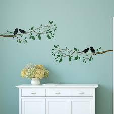 birds on a branch wall stencil home decor template craftstar