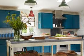 Vintage Blue Cabinets Peacock Blue Cabinets Eclectic Kitchen Kristen Panitch Interiors