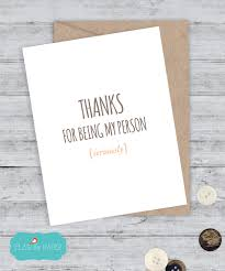 cute best friend card funny birthday cute gift by lailamedesigns