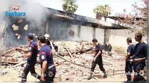 bureau douane incendie dans un bureau de la douane à radès