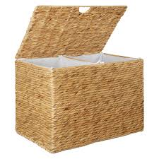 double laundry hamper with lid buy john lewis water hyacinth double laundry hamper john lewis