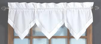 White Window Valance Hemstitch Rod Pocket Curtains White U2013 Thecurtainshop