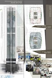 architectural layouts building corporate offices and office buildings on