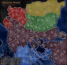 Balkans Map Balkan Wars Map