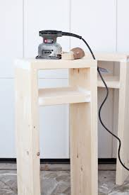 How High Should A Bedside Table Be Diy Parsons Nightstand U2013 A Beautiful Mess