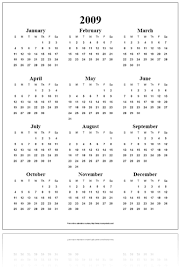free online calendar pdf year on a page