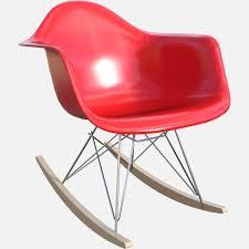 eames molded shell armchair rocker free 3d model