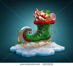 magical elf skate full christmas gifts stock illustration