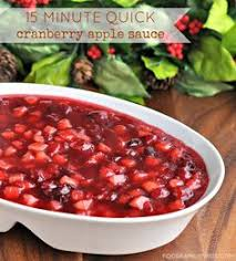 cranberry apple sauce thanksgiving recipes