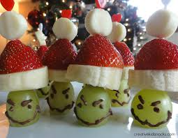 these healthy fruit grinch party poppers are based on dr seuss