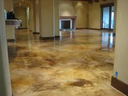 basement floor stained polished concrete to look like marble