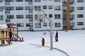 vilnius lithuania february 26 childrens backyard basketball