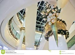 christmas decoration inside building stock image image 35546441