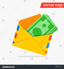 money post envelope flat vector icon stock vector 406579420