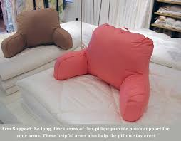 Bed Rest Pillow With Arms Bed Reading Cushion With Arm Support Watch Tv Chair Bed Rest