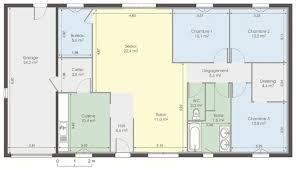 plan de maison de plain pied avec 4 chambres plans de maison plain pied plan maison plein pied 4 chambres plan
