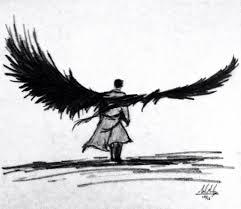 castiel wings sketch by meteorman05 on deviantart