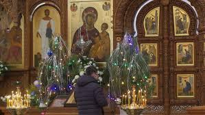 moscow kremlin russia november 04 2015 divine liturgy on the