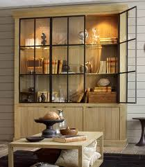 flamant home interiors flamant library iron jason weathered oak glass shelves and iron