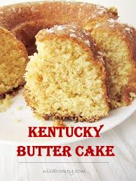 kentucky butter cake with butter sauce is almost like a pound