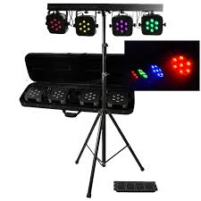 led par can package rgb 3in1 with foot controller