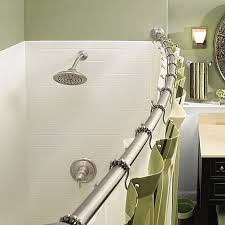 Bathroom Shower Rod Curved Shower Curtain Rods Bathroom Windigoturbines Curved