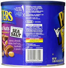 planters mixed nuts with pure sea salt 56 ounce tin amazon com