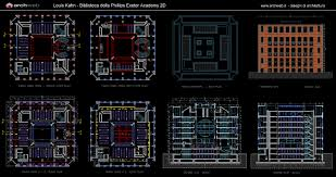 phillips exeter library autocad dwg