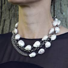 fashion pearls necklace images Modern pearl long necklace jenne rayburn jpg