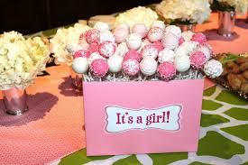 cake pop decorations for baby shower pink baby shower cake