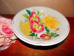 decorative fruit bowl decorative bowl antique eagle brand ironstone vintage handpainted