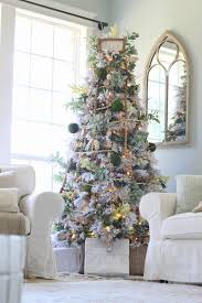 Cotton Tree Interiors Cottonstem Com Farmhouse Christmas Decor Flocked Tree Jpg