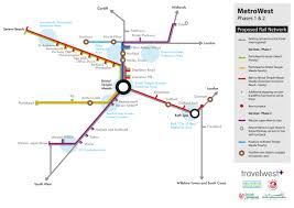 Metrolink Route Map by Maps Portishead Railway Group