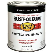 shop rust oleum stops rust black semi gloss oil based enamel
