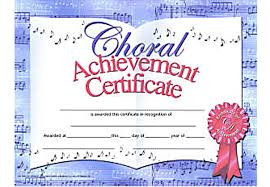 music in motion choral achievement certificate