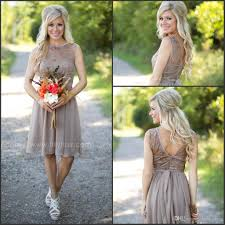 2017 fashion country style bridesmaid dresses new short for