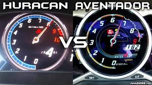 lamborghini huracan speedometer lamborghini huracan vs lamborghini aventador 0 200km h