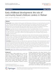 early childhood development the role of community based childcare
