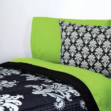 Black And Green Bedding Black White Damask Bedding Grand Sales Extra Long Twin Comforter