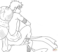 gaara coloring page free printable coloring pages