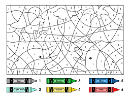 color by number owl coloring page for education pages