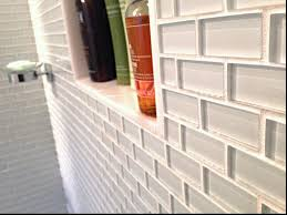 installing glass subway tile in bathroom u2014 the home redesign