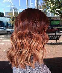 best summer highlights for auburn hair 25 copper balayage hair ideas for fall copper balayage long bob